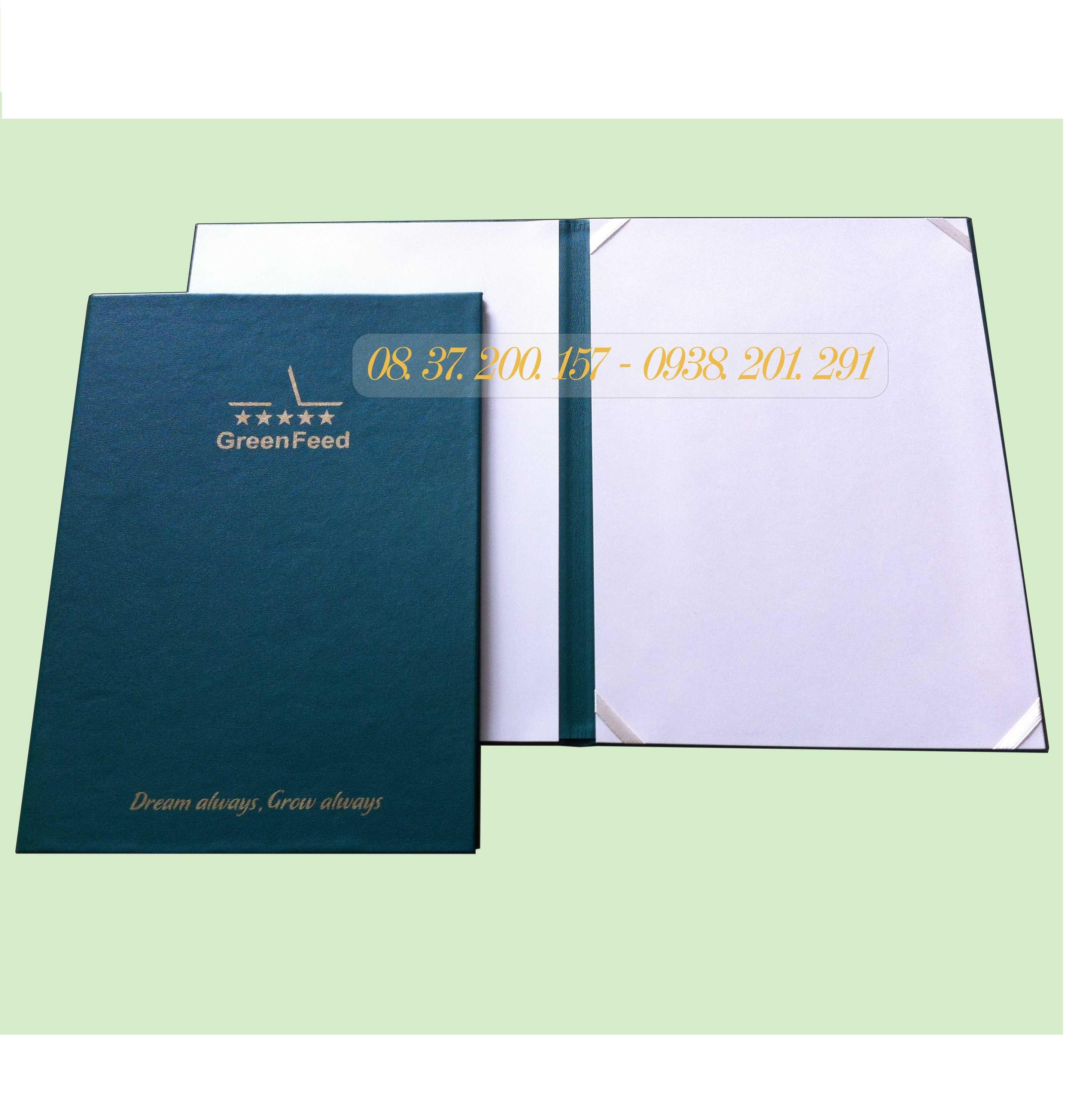 List Sản xuất bìa bằng chứng nhận, bìa chứng chỉ tại TPHCM